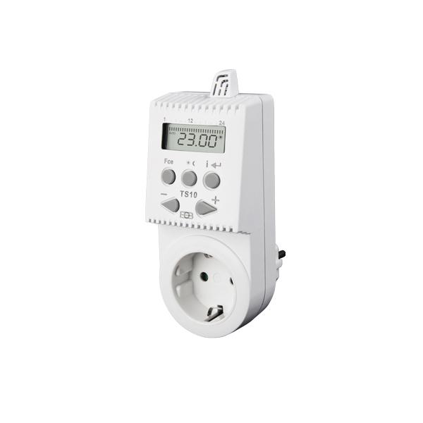 Darstellung eines TS10 Steckdosenthermostats für Infrarotheizungen