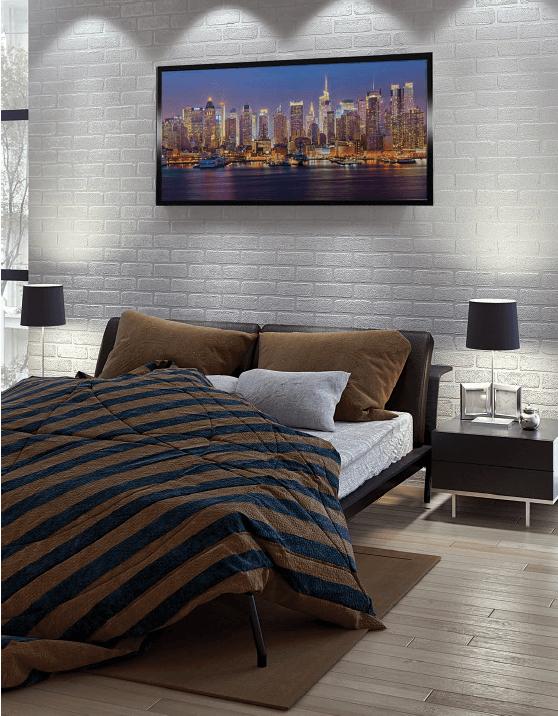 Darstellung einer Bildheizung im Schlafzimmer