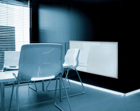 Darstellung der Infrarot Glasheizung