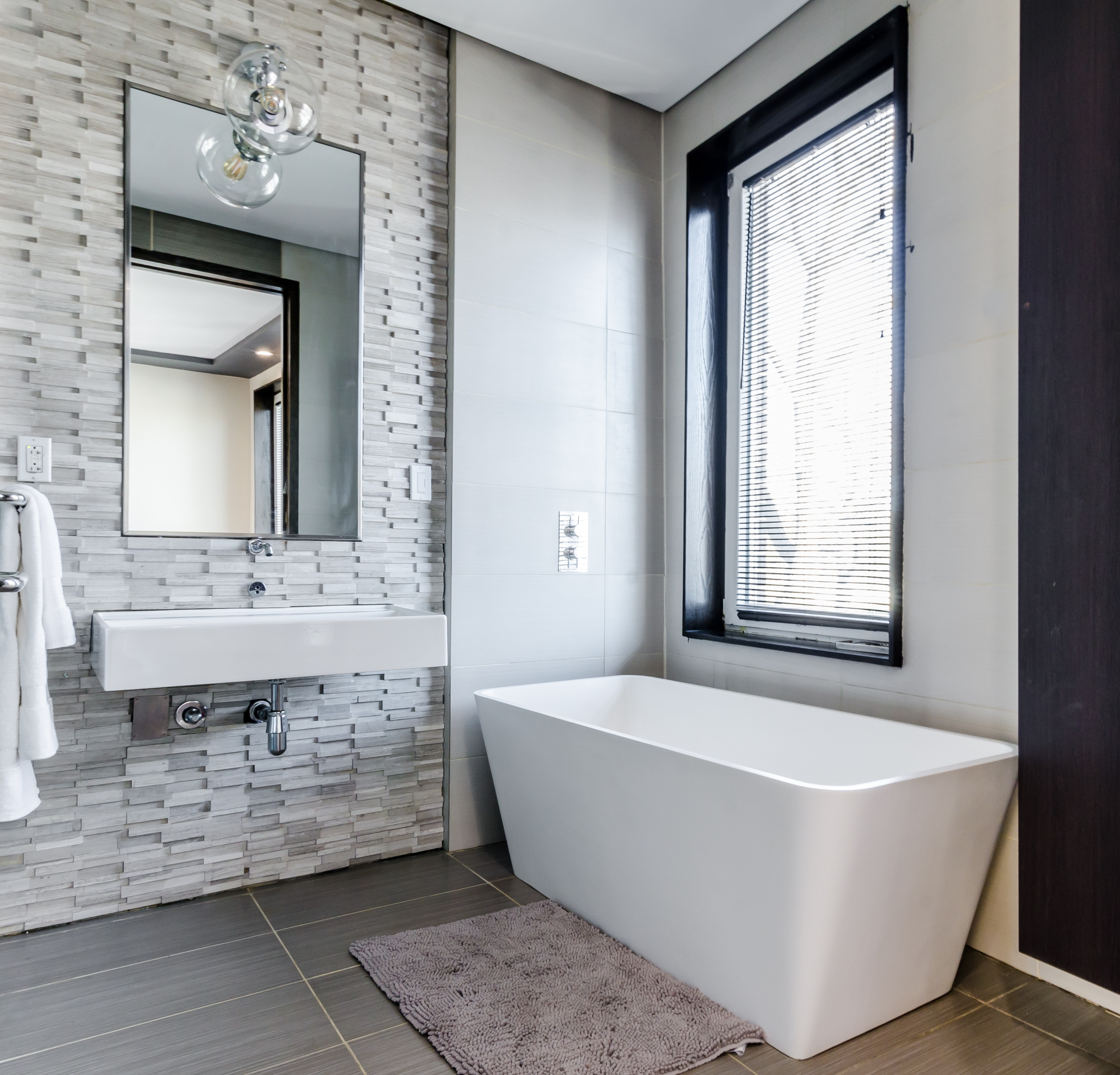 Darstellung einer Infrarotheizung-Spiegel im Bad