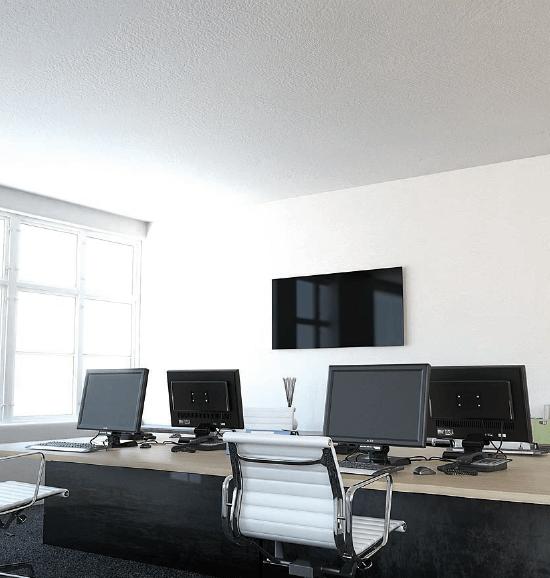 Darstellung einer Infrarotheizung im Büro
