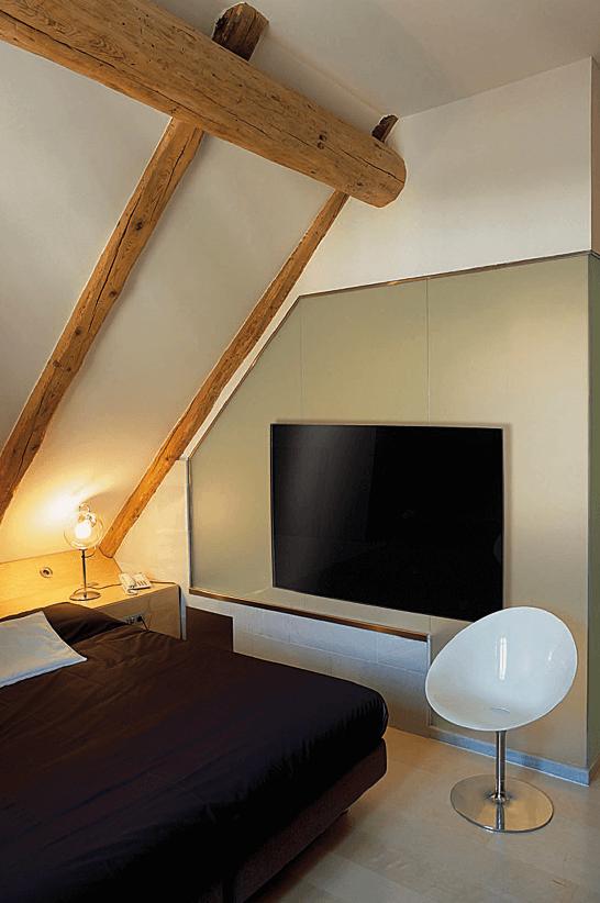 Darstellung einer Infrarotheizung im Schlafzimmer